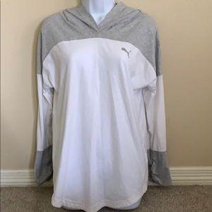 EUC puma longsleeve tee hoodie
